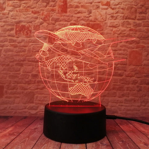 Image of 3D Lamp For Travel Lovers