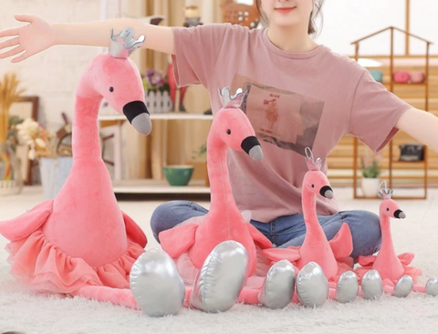 Flamingo and Swan Cute Toy