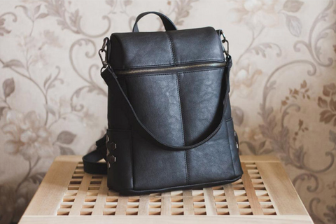 Image of Vintage Backpack and Shoulder Bag