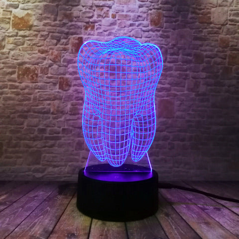 Image of Tooth 3d Lamp