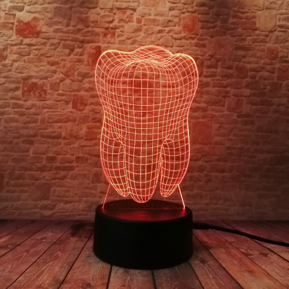 Tooth 3d Lamp