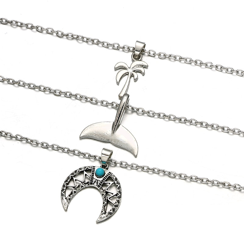 Mermaid & Moon Necklace