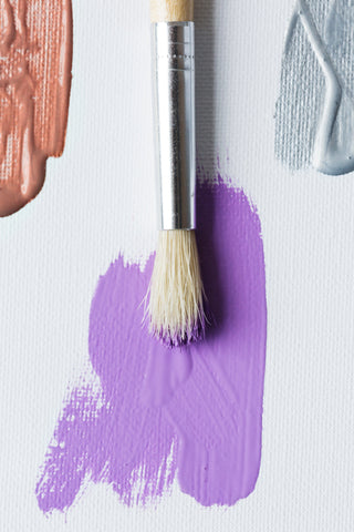 lavender paint with brush