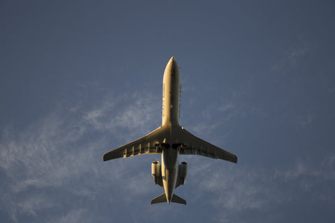 Airplane viewed from below