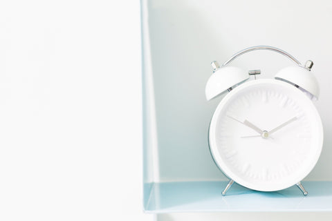 White alarm clock