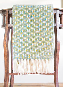 Aster Wool Throw (Yellow/Green)