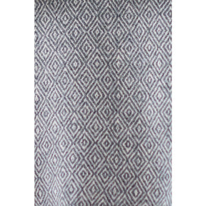Asterlark merino wool blanket in dark gray with double diamond weave pattern