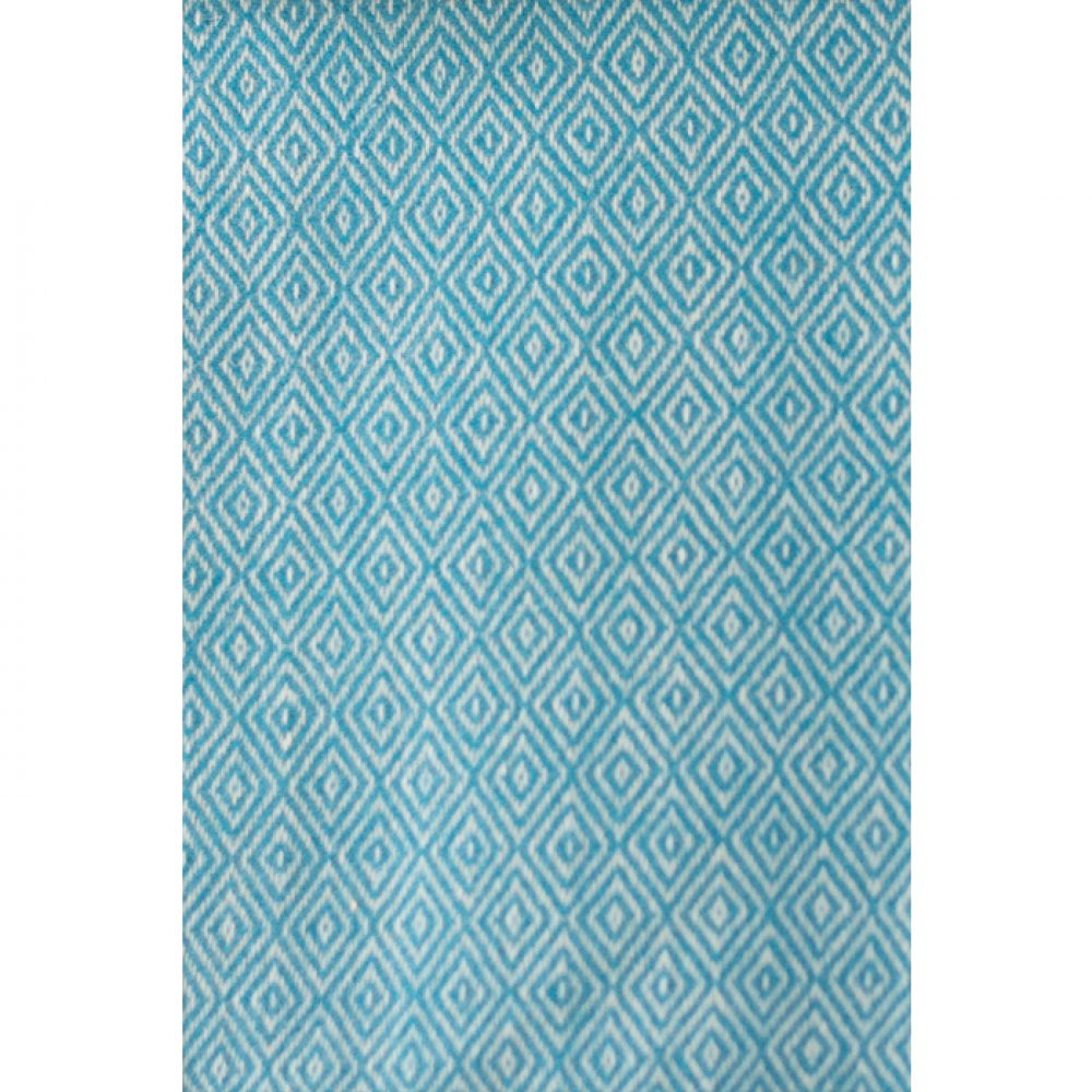 Asterlark merino wool blanket in teal with double diamond weave pattern