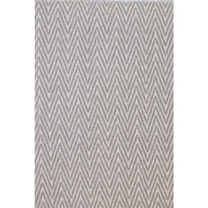 Asterlark merino wool throw blanket in light gray with chevron weave pattern