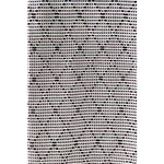 Asterlark 100% cotton throw blanket in black and white with large diamond weave pattern