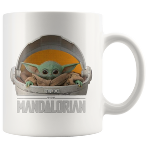 The Child Star Wars The Mandalorian White 11oz Mug