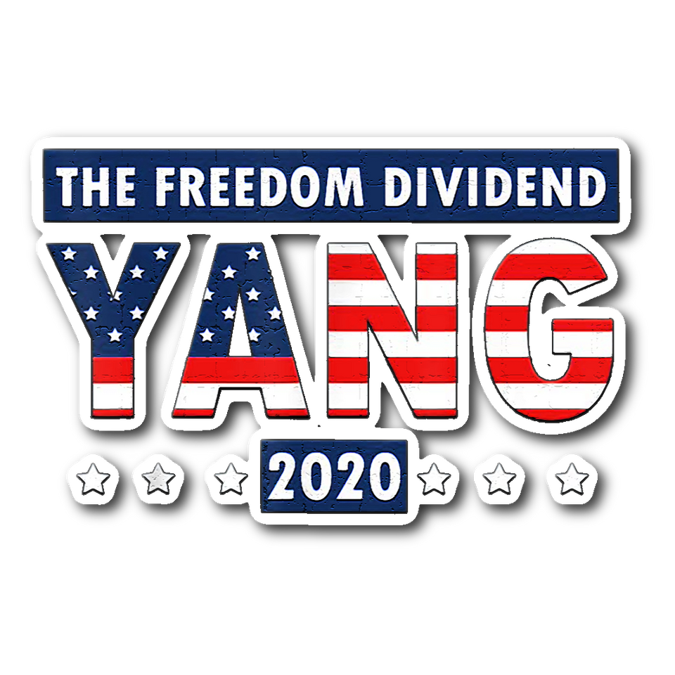 Andrew Yang The Freedom Dividend 2020 Sticker
