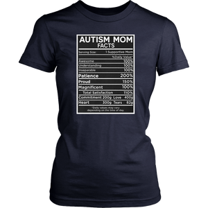 Autism Mom Facts T Shirt