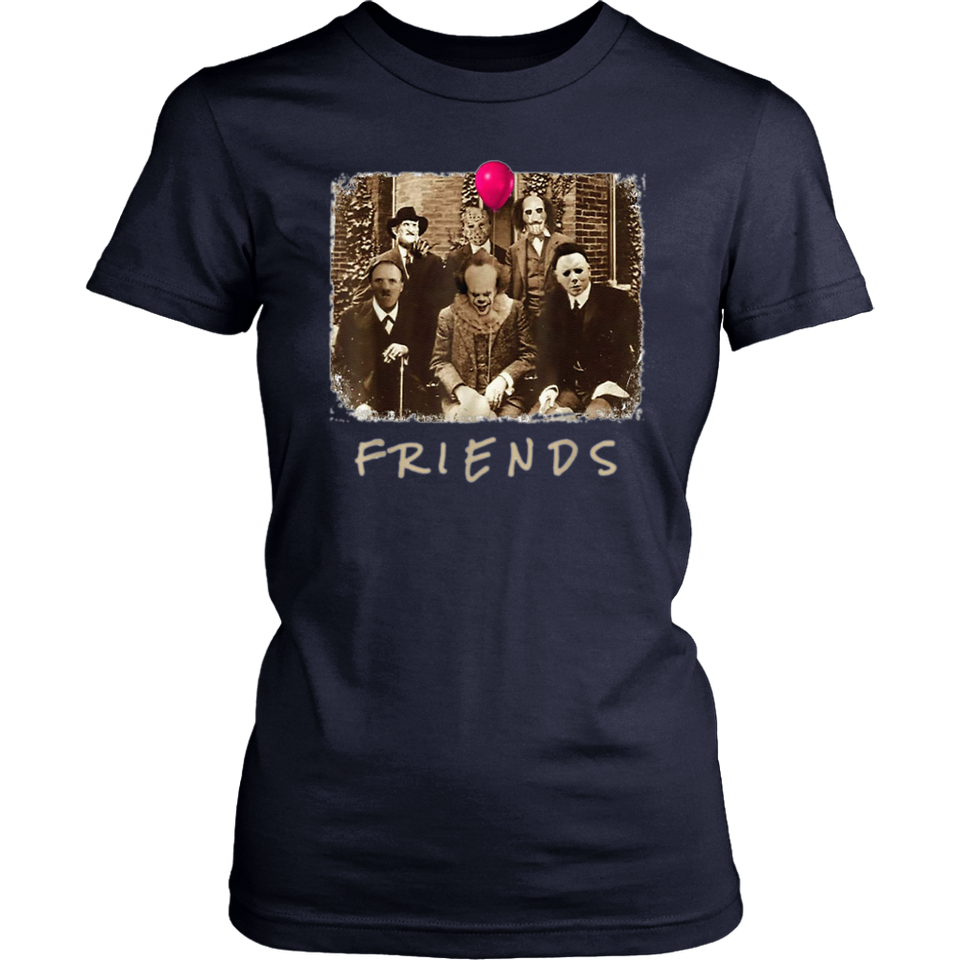 Friends Horror Movie Creepy Halloween Costume T-Shirt Movie Creepy