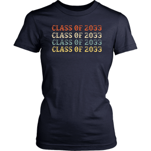 Class Of 2033 Grow With Me Pre-K Graduate Vintage T-Shirt