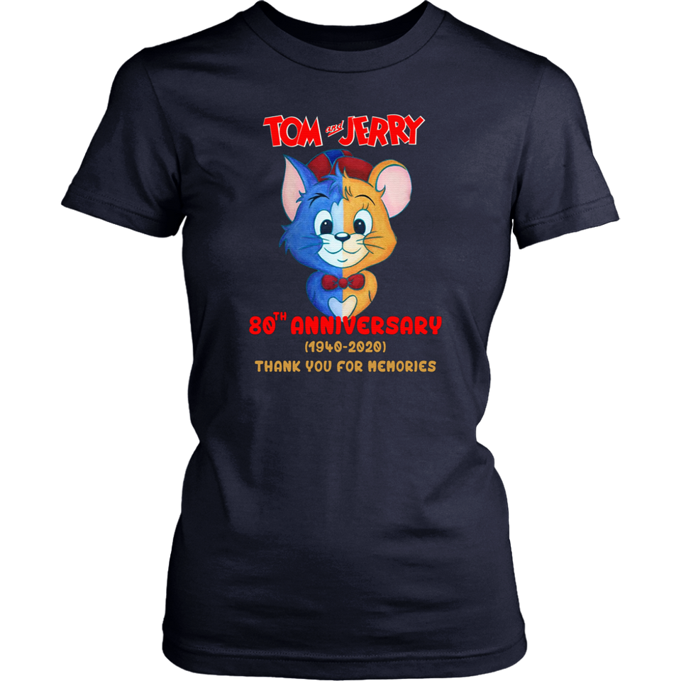 Tom and jerry 80th anniversary 1940-2020 thank you for the memories shirt