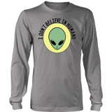 ALIENI - I DON'T BELIEVE IN HUMANS SHIRT