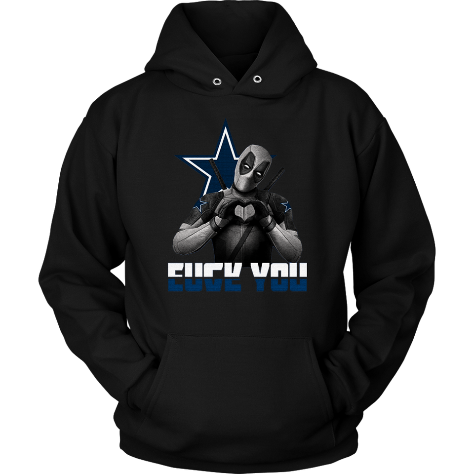 Dallas Cowboys x Deadpool Fuck You And Love You NFL Shirts