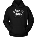 Mom of boys less drama than girls shirt
