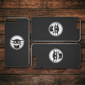 The Child Baby Yoda Mandalorian Black iPhone Case