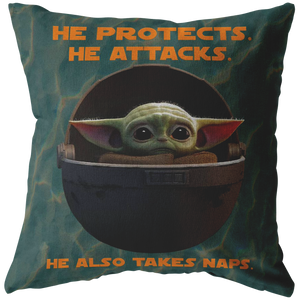 "Baby Yoda ""Mood"" Pillow! Yoda Baby - Memes - Disney Star Wars- Funny Pillow- Cool Pillow- Trendy Pillow"