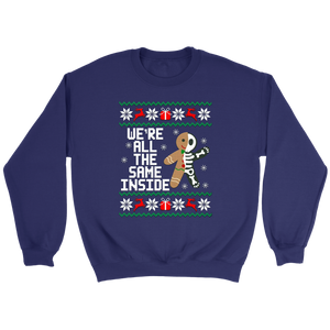 Gingerbread Skeletons We're all the same inside Christmas sweater shirt