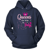 Love Queens Are Born In July Birthday Queen July T-Shirt Gift