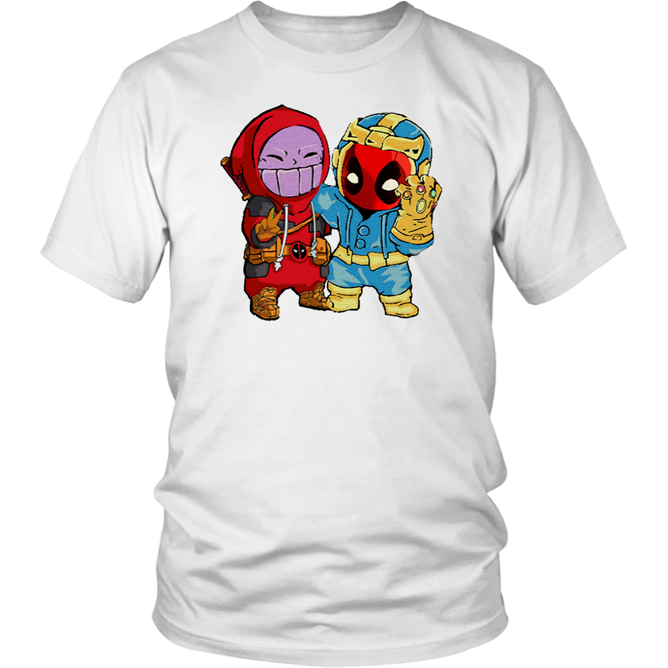 Baby Thanos And Deadpool Costume Switch Cute Shirts