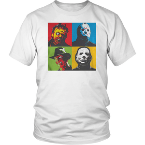Zinko Leatherface, Jason Voorhees, Freddy Krueger, and Michael Myers Halloween Horror T-Shirt