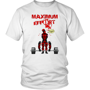 Maximum Effort Deadpool Funny Broken Arms Shirts