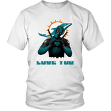 Miami Dolphins x Deadpool Fuck You And Love You NFL Shirts
