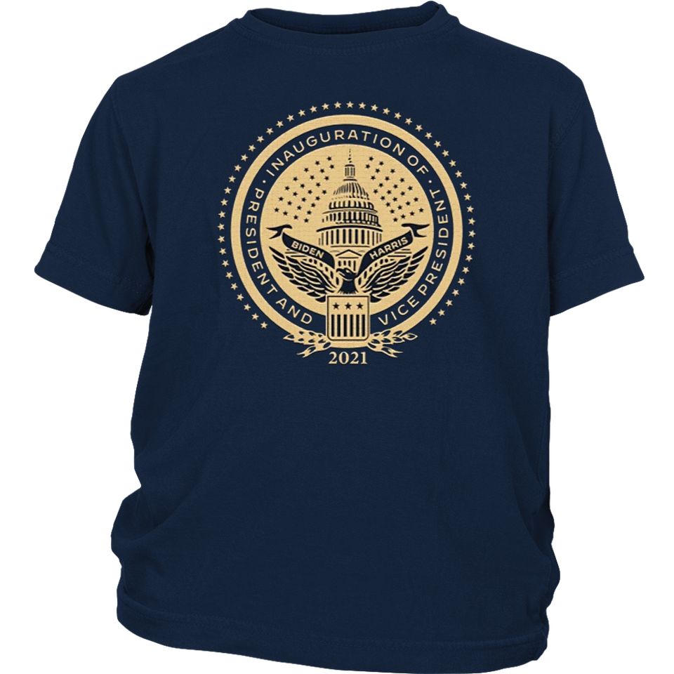 Inaugural Seal Navy Youth Shirt - Presidential Inaugural Committee Store