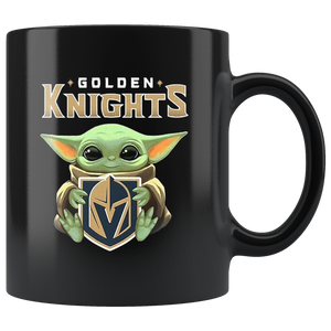 Baby Yoda Hug Golden Knights Mug Cup Coffee