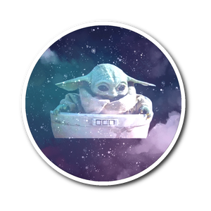 Baby Yoda Sticker  galaxy