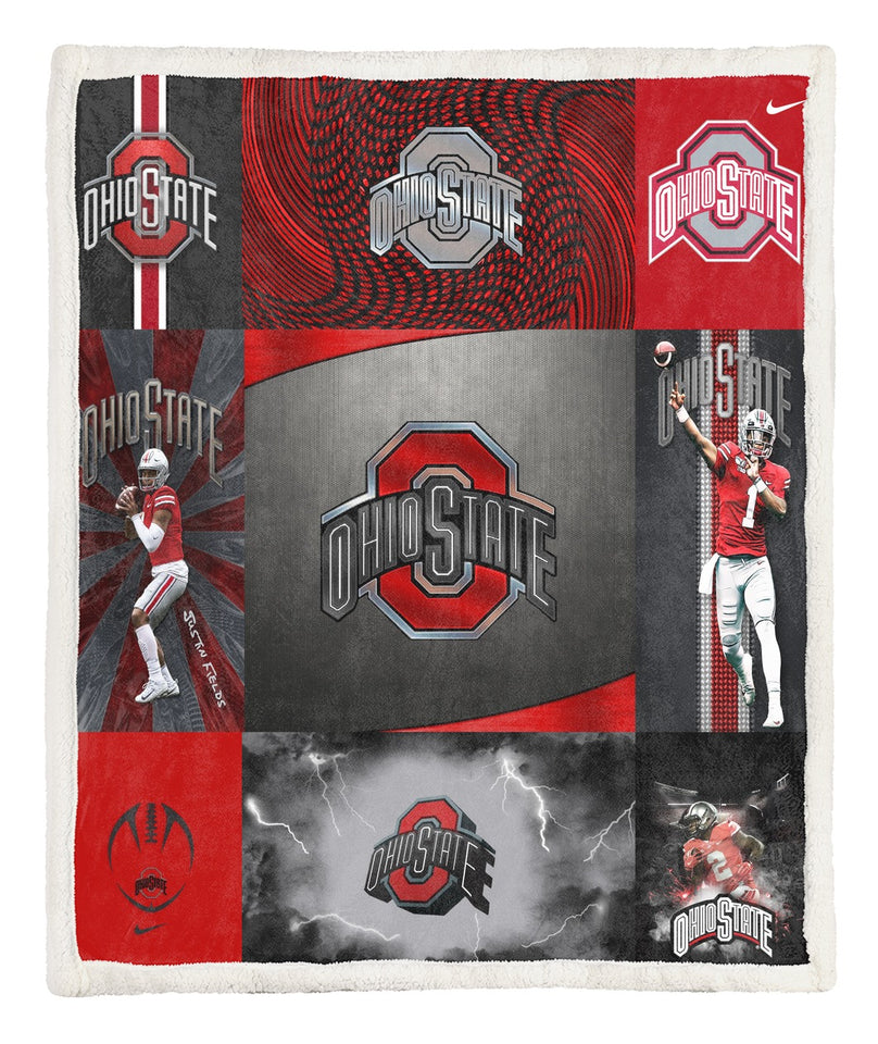 State of Ohio Quilt Blanket