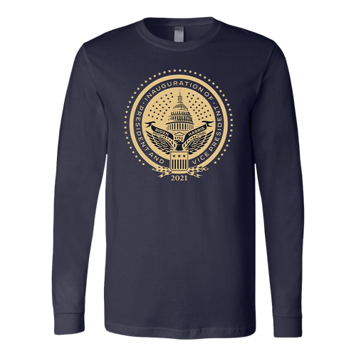 Inaugural Seal Navy Long Sleeve Shirt - Presidential Inaugural Committee Store