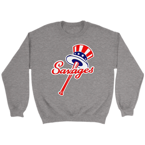 Savages Crewneck Sweatshirt  New York Yankees Top Hat Emblem