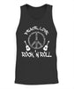 Funny Rock'n Roll T-Shirt Peace Love and Rock and - Tank Top - Unisex