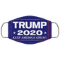 Trump 2020 Keep America Great Again Again Face Mask