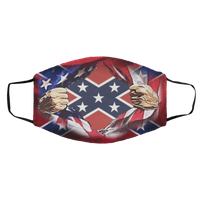 American Flag Blood Inside Me Confederate Flag Face Mask