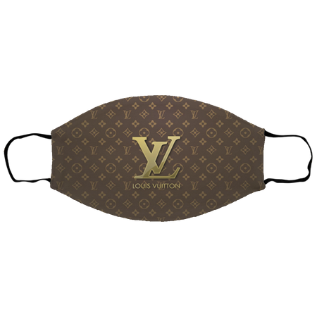 Fan Louis-Vuitton Brown Face Mask
