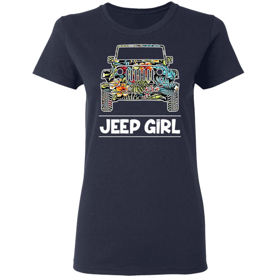 Jeep Girl Women's Graphic, Women's Jeep Car Graphic T-shirt
