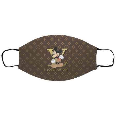Mickey Mouse Louis Vuitton Cloth Face Mask Reusable