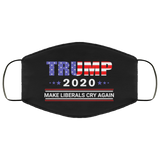 Trump 2020 Make Liberals Cry Again Face Mask Filter