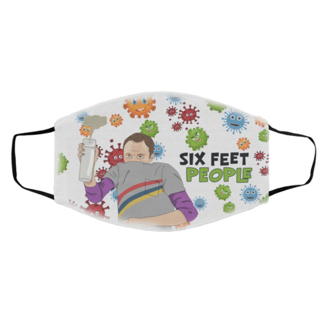 The Big Bang Theory Sheldon Cooper Six Feet People Face Mask