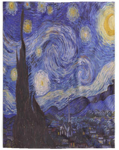 Vincent Van Gogh Starry Night Throw Quilt Blanket