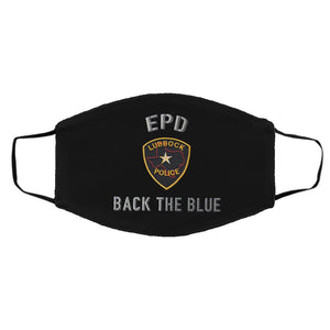 Lubbock Police Department back the blue face mask