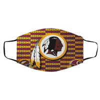 Washington Redskins cloth face masks printed