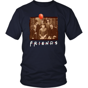 Friends Halloween Horror Team Scary Movies Costume T-shirt