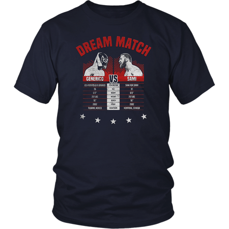 The Dream Match Generico Vs Sami Shirt